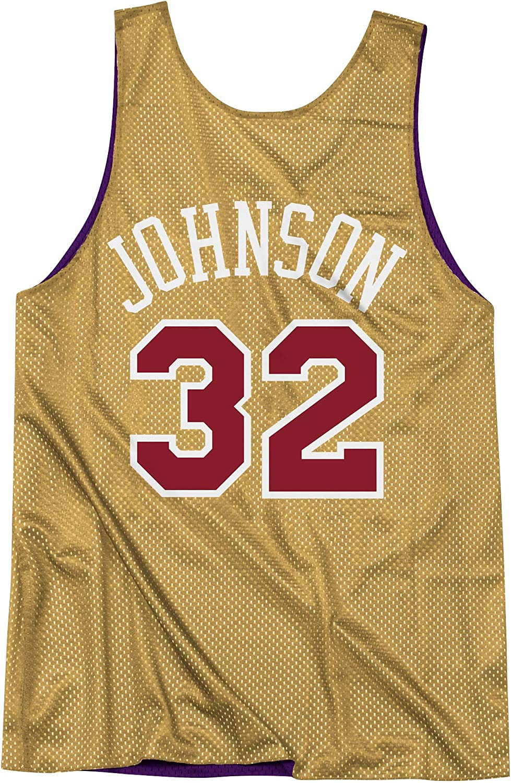 Mitchell /& Ness All Stars Johnson Purple Gold Camiseta reversible de tirantes