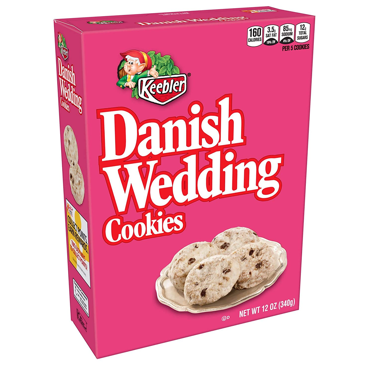 Danish Wedding Cookies.Keebler Cookies Danish Wedding Flavors Of Coconut And Chocolatey Chips 12 Oz Box Pack Of 4