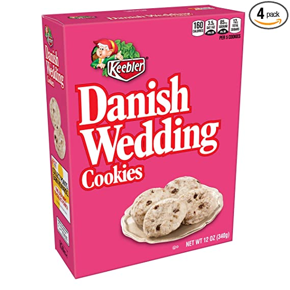 Keebler Cookies, Danish Wedding, Flavors of Coconut and Chocolatey Chips,  10 oz Box(Pack of 10)