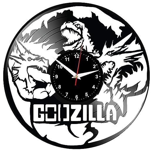 EVEVO Godzilla Reloj De Pared Vintage Diseño Moderno Reloj ...