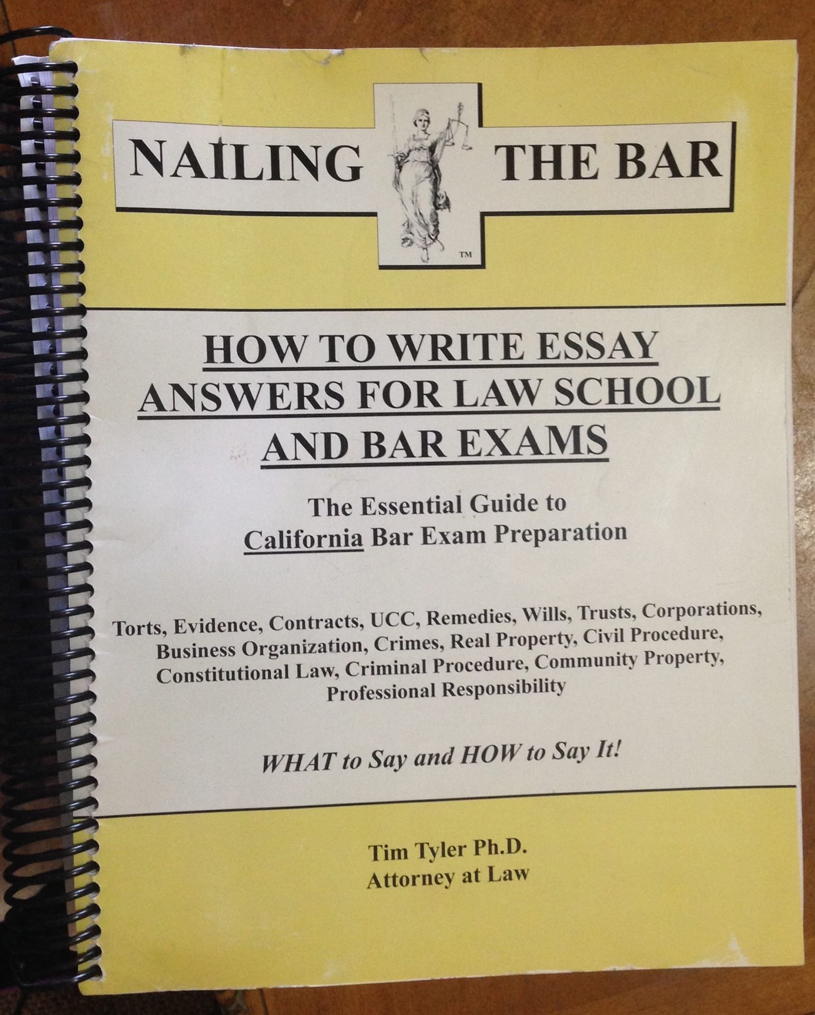 NAILING THE BAR (HOW TO WRITE ESSAY ANSWERS FOR LAW SCHOOL AND BAR EXAMS) pdf