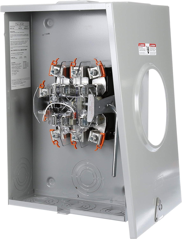 TALON Metering 400 amp 7 Jaw bypass meter socket NEW SIEMENS