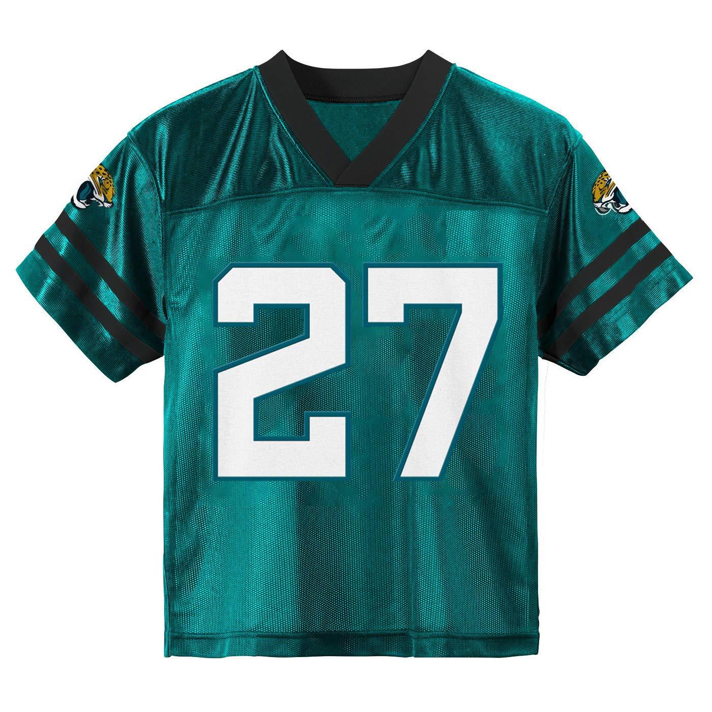 cb7af39bb Amazon.com   Outerstuff Leonard Fournette Jacksonville Jaguars  27 Teal  Youth Alternate Player Jersey   Sports   Outdoors