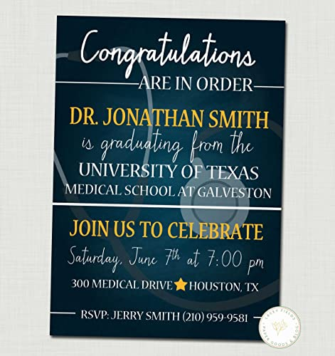 Amazon medical school graduation invitation graduation medical school graduation invitation graduation announcement set of 10 filmwisefo