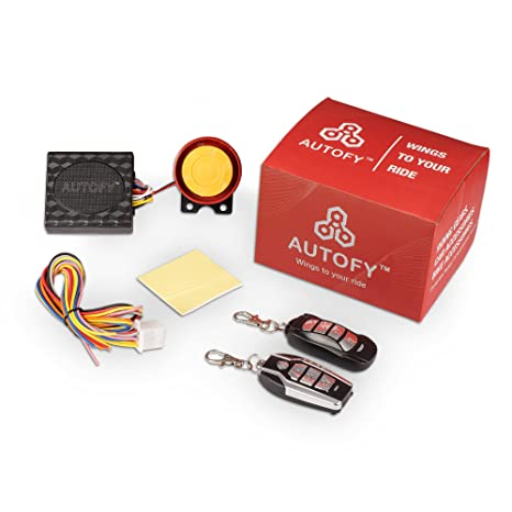 4f81176a33d7 Autofy Universal Button Remote Key Anti-Theft Alarm System for all Bikes   Amazon.in  Car   Motorbike