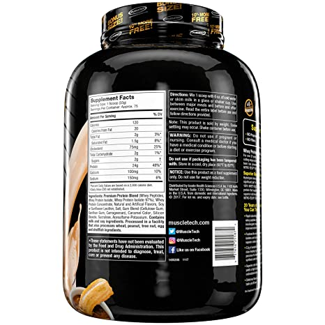 Amazon.com: MuscleTech Nitrotech Whey Gold/Isolate/Peptides, Churro, 5.5 Pound: Health & Personal Care