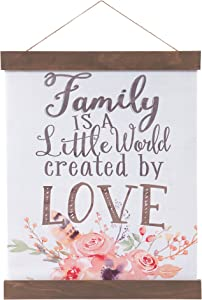 """Patton Wall Decor Family Created By Love Hanging Canvas Print with Wood Detail, 16"""" x 20"""""""
