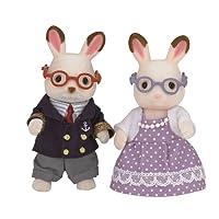 Sylvanian Families - 5190 - Mini-poupée - Grands Parents Lapin Chocolat