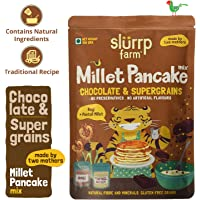 Slurrp Farm Instant Breakfast Millet Pancake Mix | Chocolate and Supergrains | Natural and Healthy food, 150gm