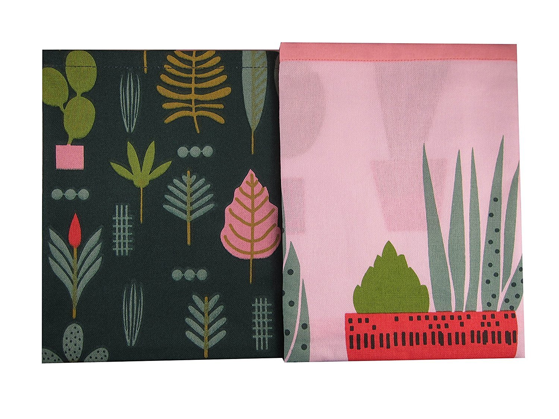 Elizabeth Olwen Plant Life Cactus Garden Designer Kitchen Dish Tea Towels Dishcloths Set of 2
