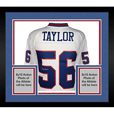 innovative design 827e6 1f8b8 Framed Lawrence Taylor New York Giants Autographed White ...