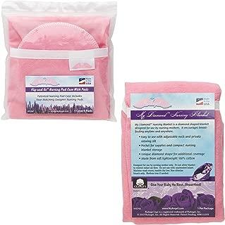 product image for NuAngel Flip and Go Nursing Pad Case with Nursing Blanket Set, Pink