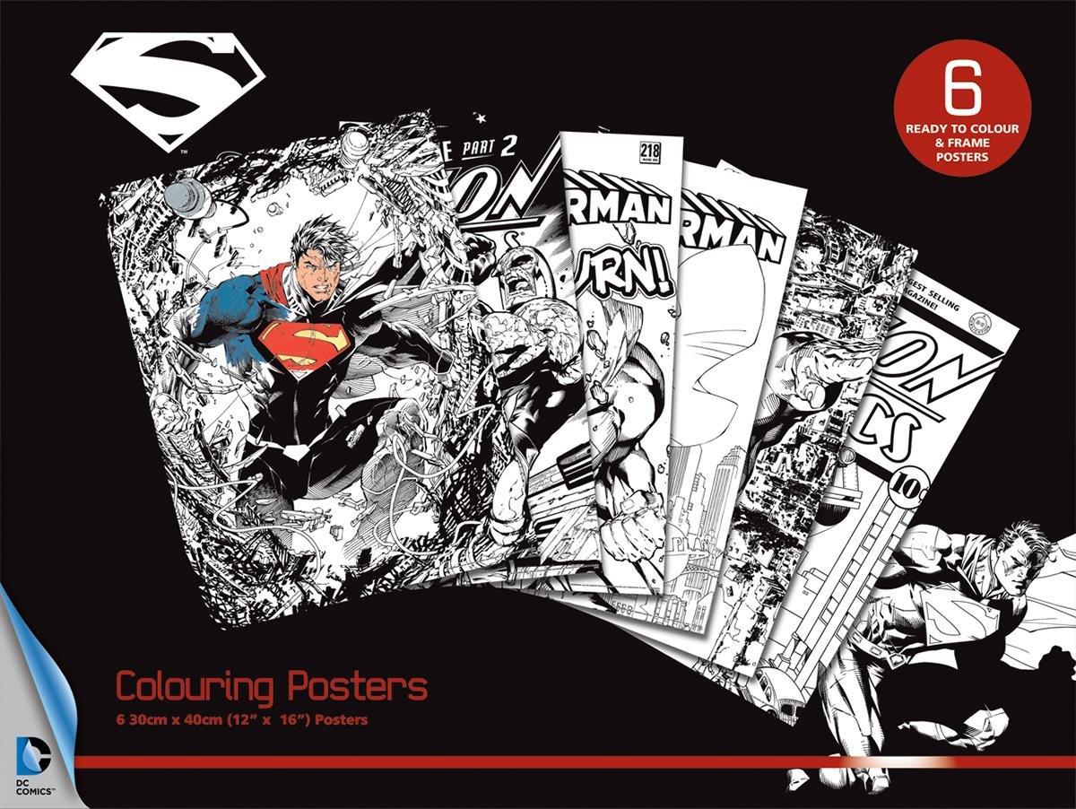 Superman DC Comics 6 Poster zum Ausmalen, je 30x 40cm: Amazon.de ...
