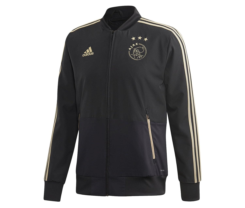 2018-2019 Ajax Adidas Woven Presentation Jacket (Carbon) B07CTFW6VGGrey XS 34-36\