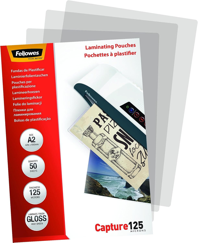 brillo formato A3 Pack de 100 fundas para plastificar 80 micras Reacondicionado surtido: modelos aleatorios Fellowes 53062