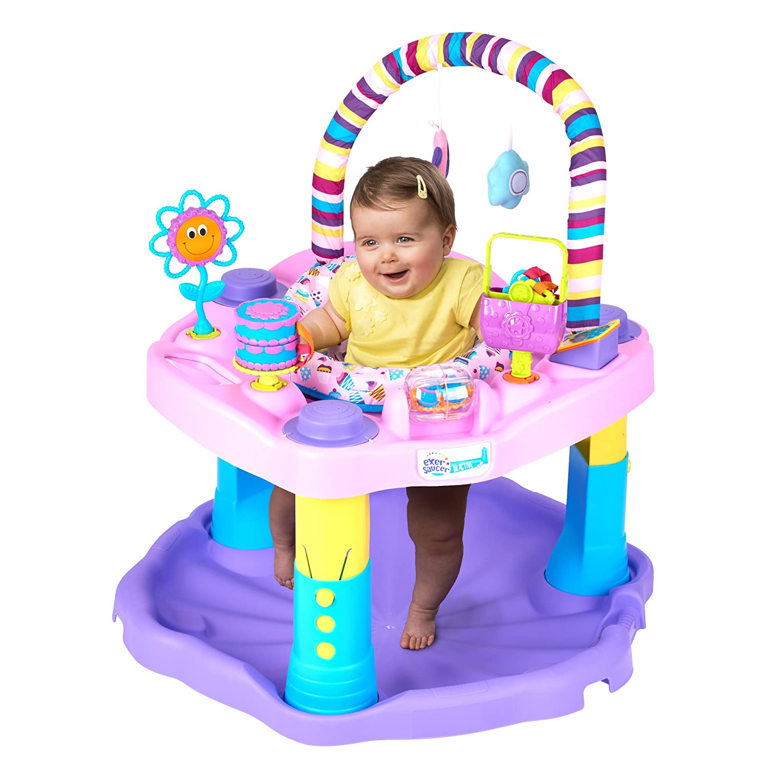 3795a0ce2 Amazon.com   Evenflo Exersaucer Bounce and Learn Sweet Tea