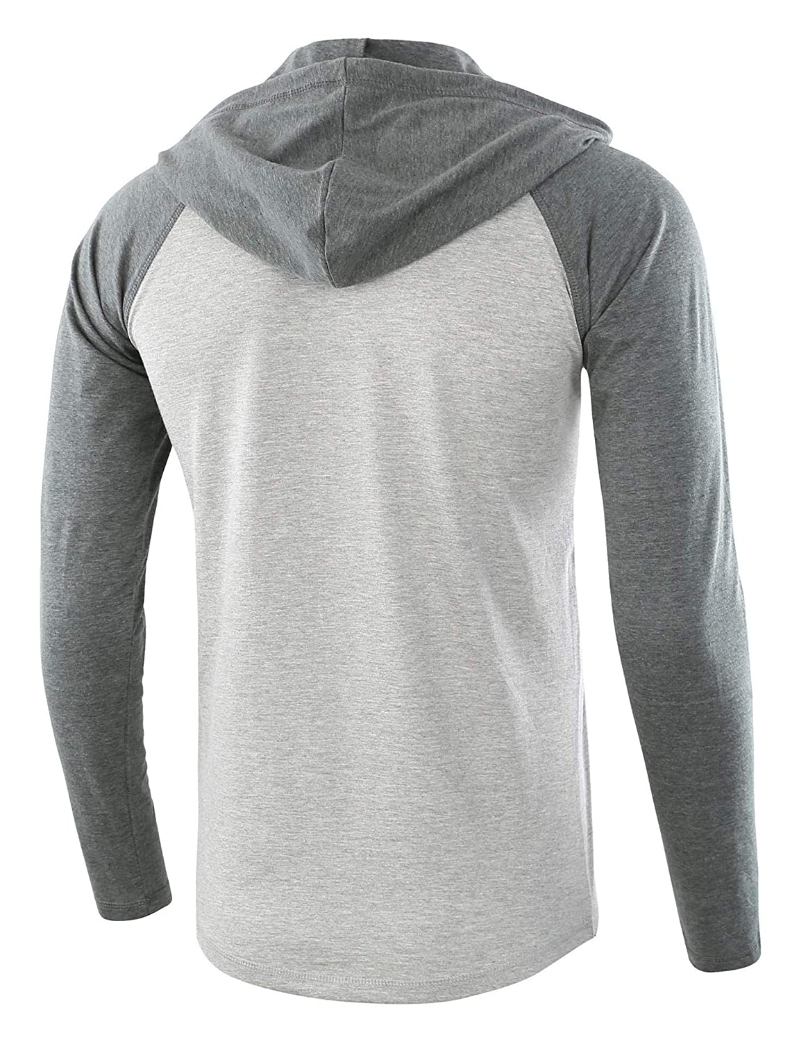 Fieer Mens Cozy Hood Oversize Spell Color Lounge Top Tees Polo