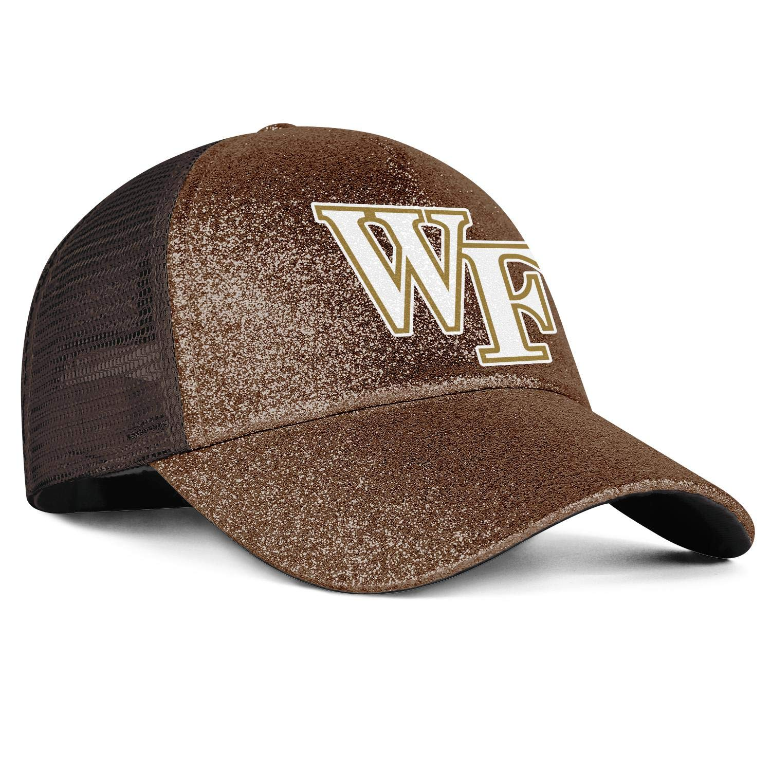 GuLuo Wake-Forest-Demon-Deacons Womens Ponytail Baseball Caps Dad Glitter Mesh Hat Unique