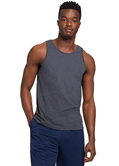99c11d4ef9678 Amazon.com  Russell Athletic Men s Essential Cotton Tank Top  Clothing