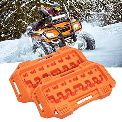 FIREBUG Off-Road Recovery Track, Traction Boards, Tracktion Mat, 2 Pcs Recovery Tracks Traction Mat for 4X4 Jeep Mud, Sand, Snow Tire Traction (Orange): Automotive