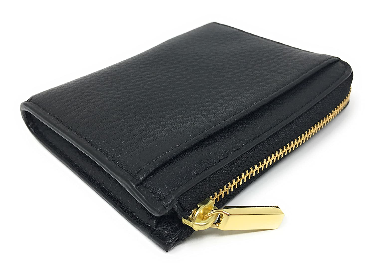 Tory Burch Mercer Half Zip Leather Card Case (Black) at Amazon Women's  Clothing store: