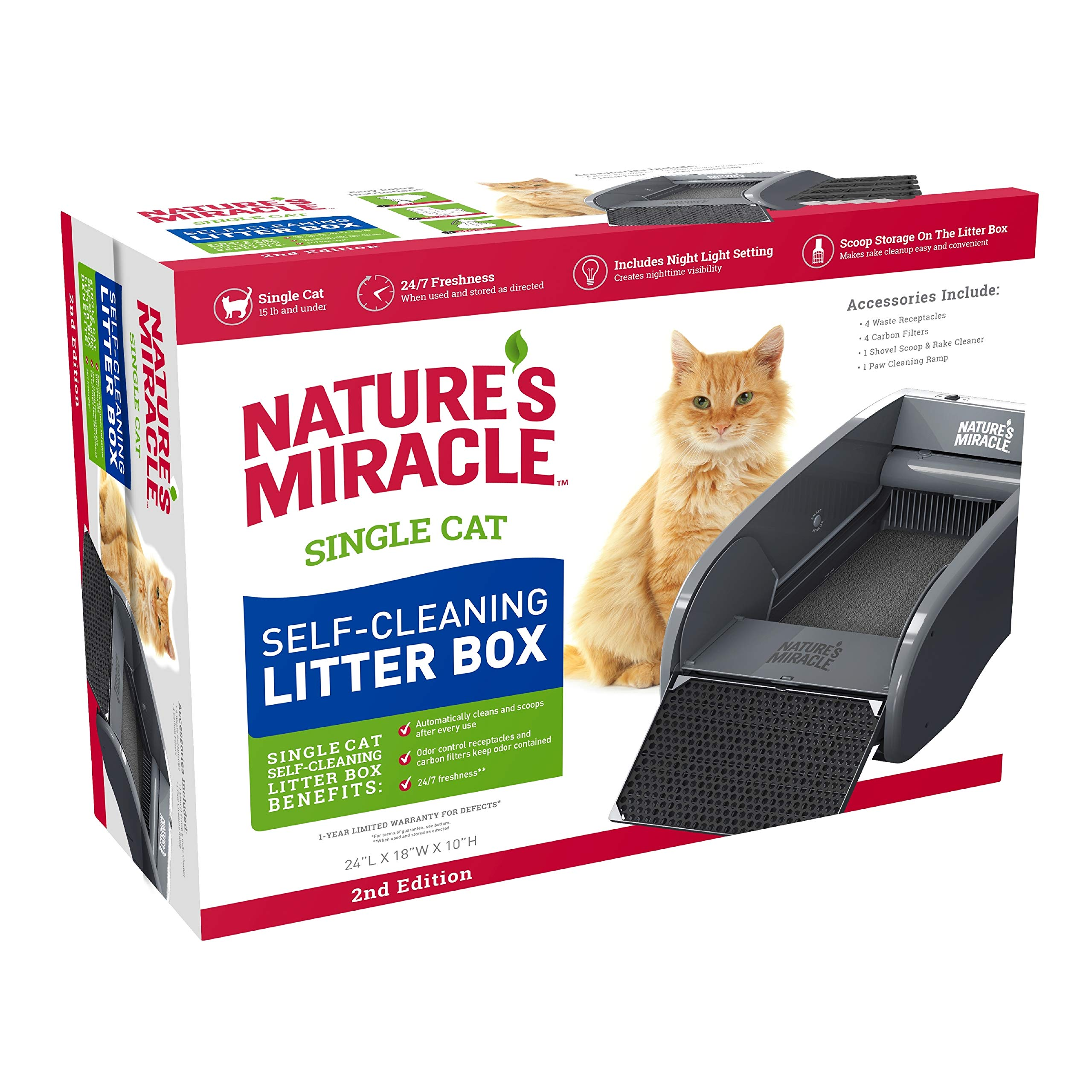 Nature's Miracle Nature's Miracle Single-Cat Self-Cleaning Litter Box (NMA500) by Nature's Miracle