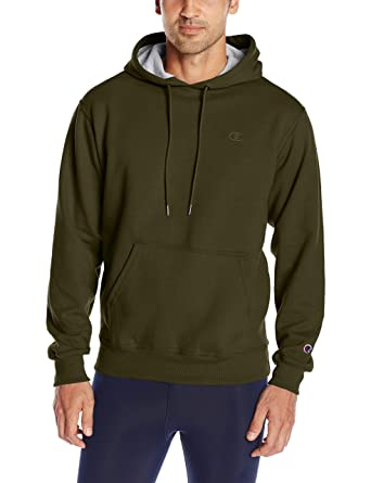 Champion Men\u0027s Powerblend Pullover Hoodie, Hiker Green, XX,Large