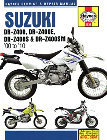 haynes manuals suz drz400 00 10 2933 amazon co uk car motorbike rh amazon co uk 2004 suzuki drz 125 service manual 2003 suzuki drz 125 service manual pdf