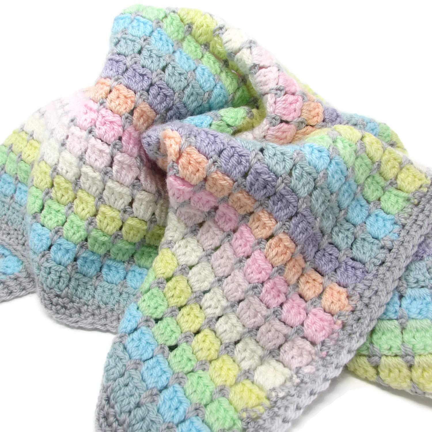 58ab29e3e Vintage Rainbow Crochet Baby Blanket Kit - the perfect gift for crochet  lovers and mums-to-be - everything you need to make a cosy cot blanket for  a ...