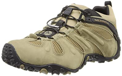 Mens MERRELL Chameleon Prime Stretch Waterproof Hiking Shoes Canteen CANTEEN