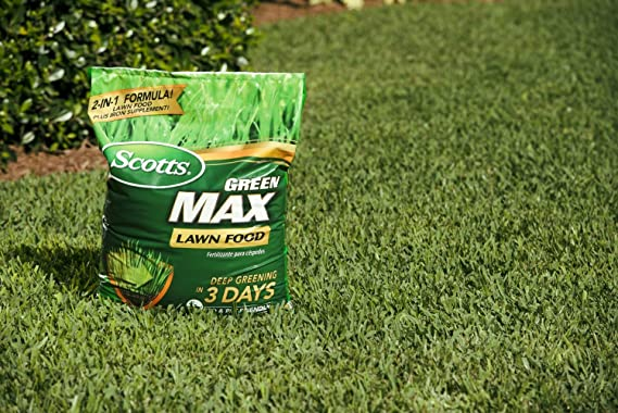 Amazon.com : Scotts Green Max Lawn Food - 10 M | Lawn Fertilizer Plus Iron Supplement | Builds Thick, Green Lawns | Deep Greening in 3 Days | 44611A (2 ...