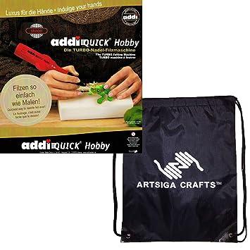 Addi Bundle: rápido Hobby Turbo aguja máquina para hacer fieltro 850 - 2 + 1 artsiga manualidades proyecto bolsa: Amazon.es: Hogar