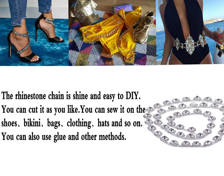 KAOYOO 1 Yard Crystal Rhinestone Chain for DIY Embellishments