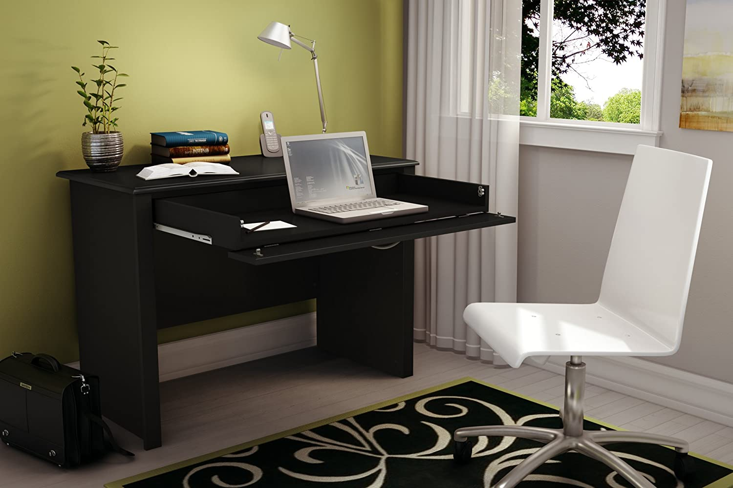 Nice Amazon.com: South Shore Work ID Collection Laptop Desk, Pure Black: Kitchen  U0026 Dining