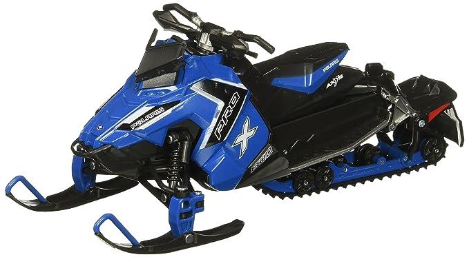 newray 57783b 1 16 snowmobile polaris 800 switchback pro x blue diecast vehicle blue