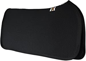 ECP 3D Mesh Western Saddle Pad All Purpose Diamond Quilted Cotton Therapeutic Contoured Correction Support for Riding