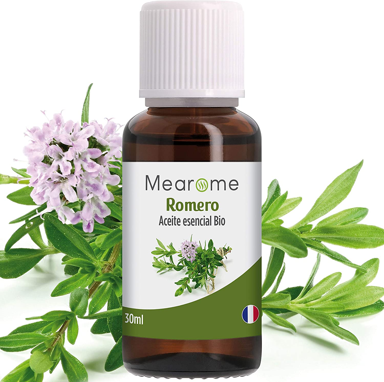 Aceite Esencial de Romero Puro 30 ml, 100% Natural y Bio | Antiestrés Alivia Dolores Musculares Conjestión Nasal Anticaspa | Ideal para Humidificador Ultrasónico Aromaterapia | Fabricado en Francia