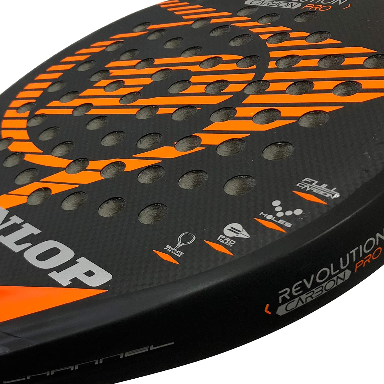 DUNLOP Pala pádel Revolution Carbon Pro 2.0 Orange Rugosa ...