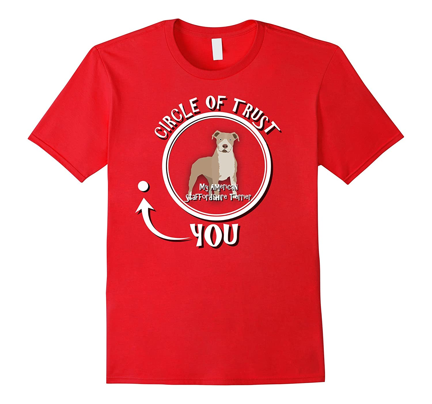 American Staffordshire Terrier T-shirt  Circle of trust-TH