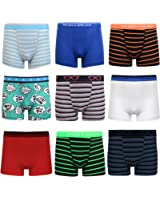 6 Pairs of Boys Boxer Shorts Super Quality Underwear Boxers Ages 2-14+