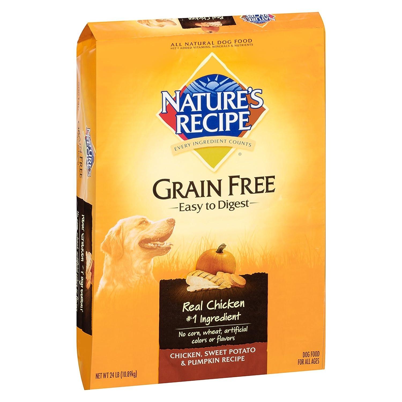 Nature's Recipe Grain Free Chicken Recipe Dry Dog Food, 4-Pound