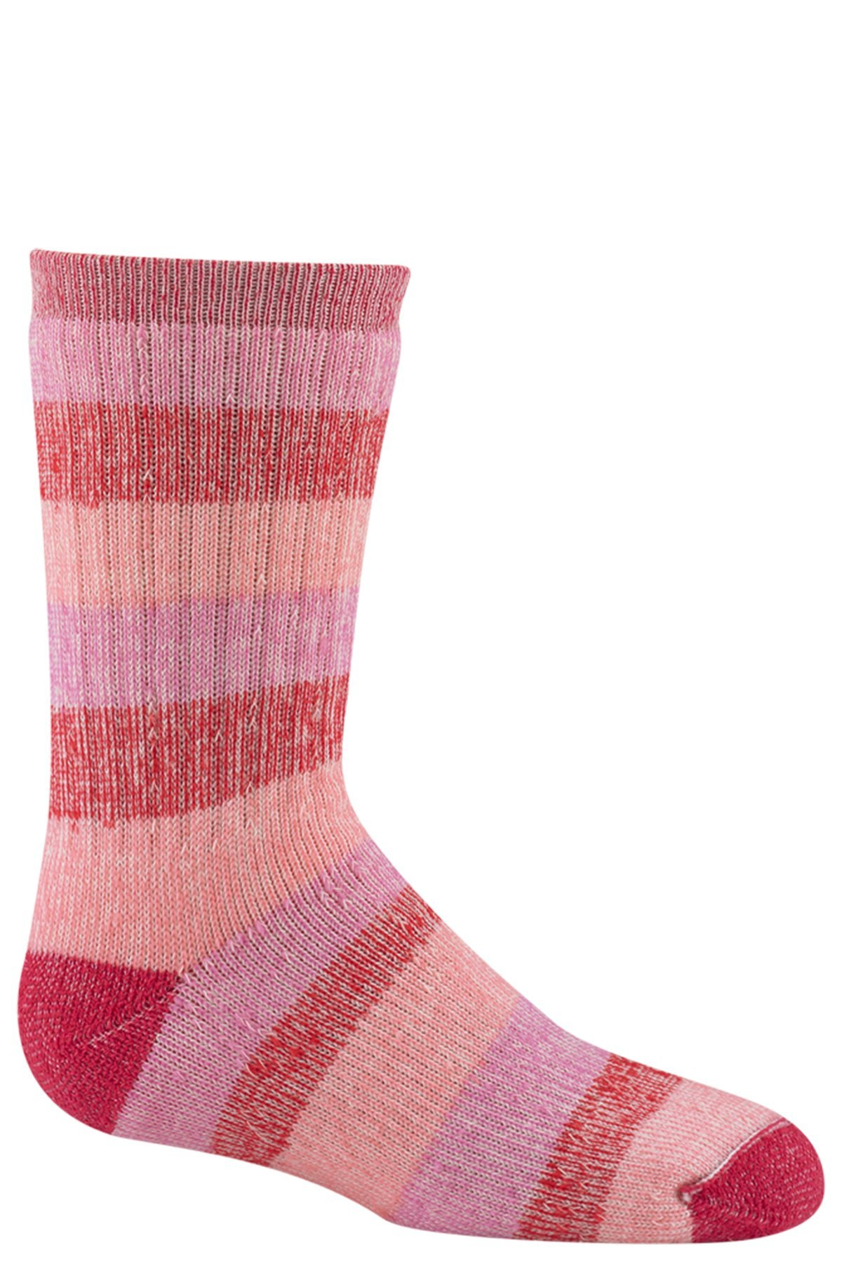 Wigwam Lil' Rascal Socks Rose / Pink YX with a Helicase brand sock ring