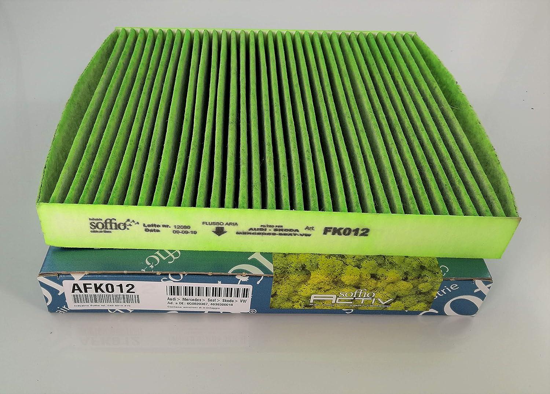 AFF319 INDUSTRIE SOFFIO Filtro Abitacolo Antipolline Fibra Antibatterico Per Autovetture Automobile Prevenzione Inquinamento Abitacolo Perfettamente Adattabile Originale