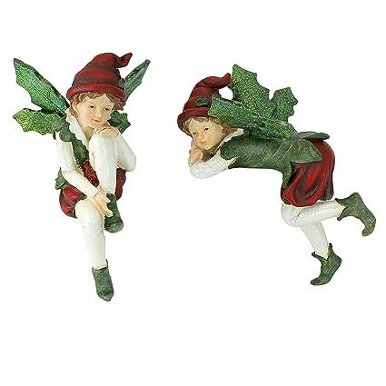 Christmas Decorations - Emmanuel and Elijah, Santa's Xmas Elf Shelf Sitter  Holiday Statue - Amazon.com: Christmas Decorations - Emmanuel And Elijah, Santa's