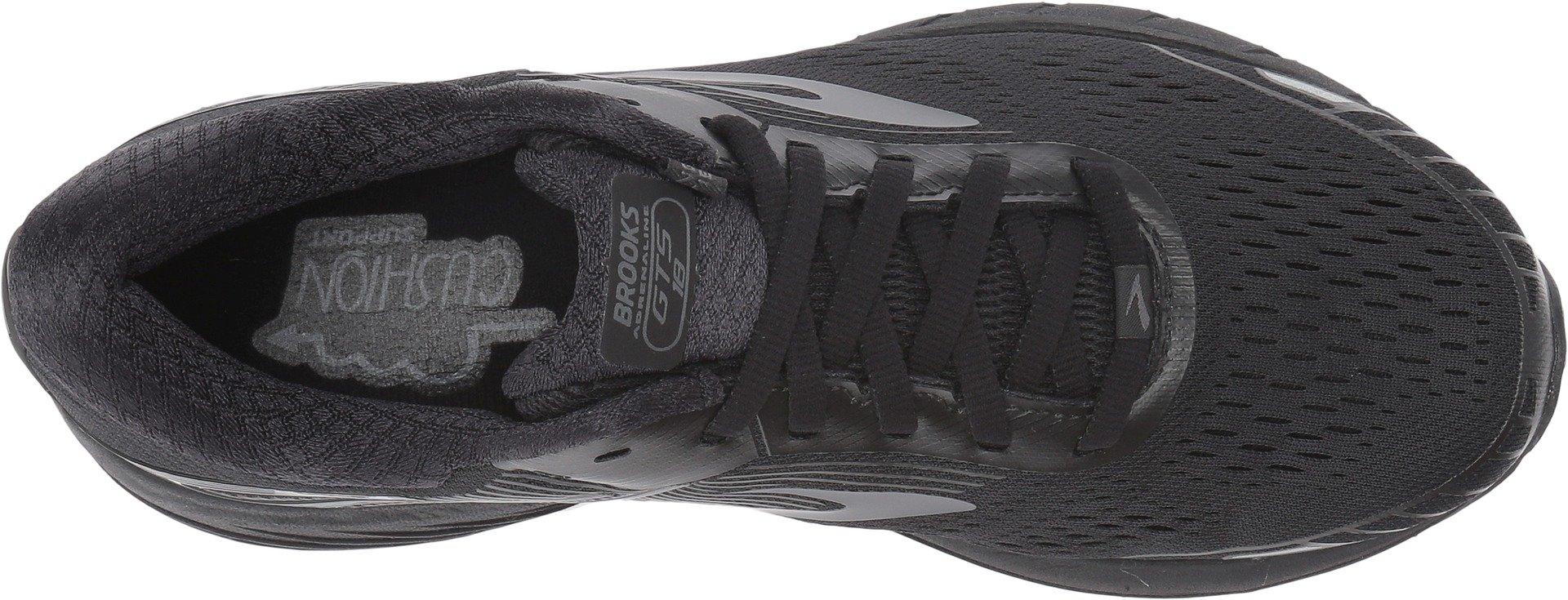 Brooks Women's Adrenaline GTS 18 Black/Black 7.5 B US by Brooks (Image #2)