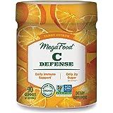 MegaFood, C Defense Gummies, Tangy Citrus Soft Chew Supplement for Daily Immune Support, Gluten Free, Vegan, 90 Gummies (45 S