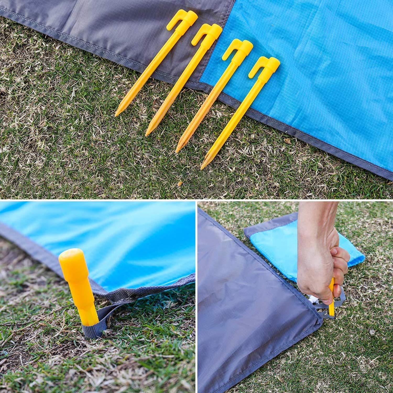 Gshy Tapis de Plage Couverture de Pique-Nique Imperm/éable Anti Sable Tapis Id/éal pour Plage Pique-Nique Camping /Èv/énements en Ext/érieur 200 140cm