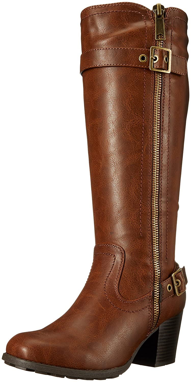 WHITE MOUNTAIN Women's Dover Harness Boot B01DZ3JJBY 9 B(M) US Cognac