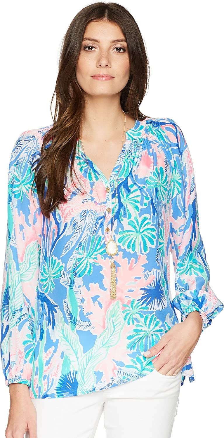 5104706a09d015 Lilly Pulitzer Women's Elsa Solid Top at Amazon Women's Clothing store:  Blouses