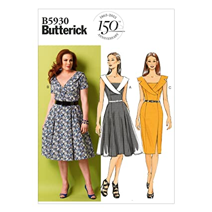 59592b2205c3 Image Unavailable. Image not available for. Color  BUTTERICK PATTERNS B5930  Misses Misses  Petite Women s Women s Petite Dress Sewing Template